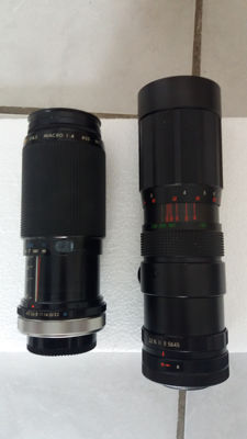 1. Lens Telephoto Kiron 80-200mm f4.5 Macro 1:4 MC   N0.36639450.   +   1. Lens Porst Tele-Zoom  Auto 1:4.5/90-230mm  N0. 72360