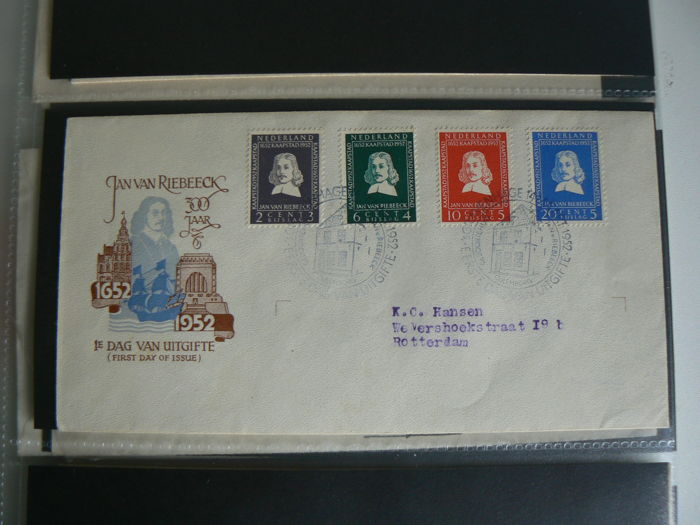 The Netherlands 1952/1957 - Selection FDCs between NVPH E7 and E29