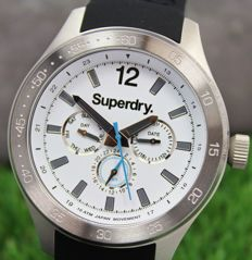 Superdry Mens Stainless Steel Watch 100m Water Resistant - New & Perfect Condition