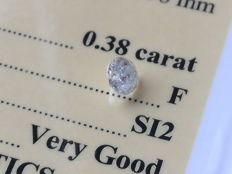 Diamond – 0.38 ct - F/SI2 - VG/VG/VG ** No Reserve **