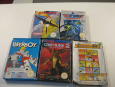 5x Original Nintendo Nes games boxed,most off them complete. 4 times Pal 1 game is NTSC
