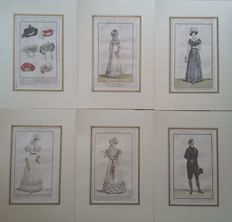 Lot consisting of 40 prints - Various authors. - Costume Parisien - 1785/1830