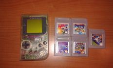 Nintendo Game Boy Transparent  version including 5 games.