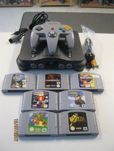 Nintendo 64 including 7 good games. like: Zelda, Mario, Star shot cars and more