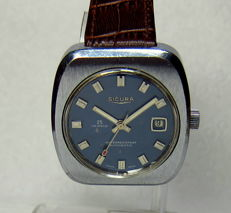sicura automatic men,s watch 1970