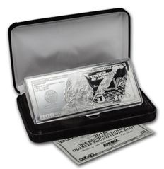 USA: $100 silver bullion - 'Banknote 2016' - 4 oz of fine silver - in a fine box with certificate