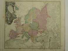 Europe; J.M. Hasio - L'Europe dessinée Suivant le plus precises d'une nouvelle projection Stereographie (...) - 1789