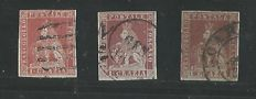 Tuscany - 1851 / 1857 7 specimens (1 crazia x 3 & 2 crazie x 4).