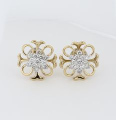 18 kt/750 Yellow Gold Diamond Earrings - Diamonds 1.01 ct. -  15 mm