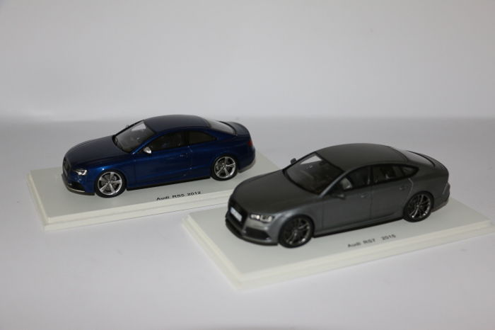Spark - Scale 1/43 - Audi RS5 2012 - colour: Blue & Audi RS7 2015 - colour: Matt grey.