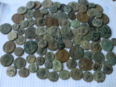 Roman Empire – Varied lot of 94 Roman coin from the Low Empire (various emperors)