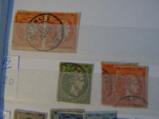 Greece - Collection in stock book with lots of stamps from 1861 to modern.