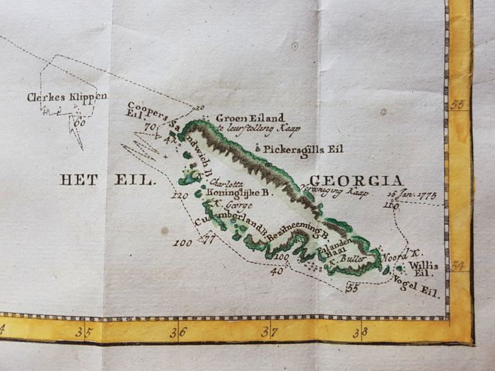 South Georgia and the South Sandwich Islands, Scotia Arc; James Cook ...