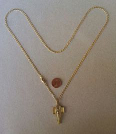 Necklace with pendant in 18 kt gold 13 g