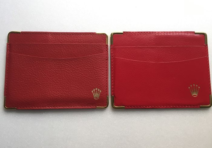ROLEX Classic red folder--Different model versions----2 pieces--No Reserve Price