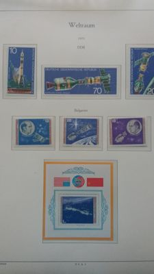 Thematic - Collection in 2 Kabe albums, Apollo and Soyuz incl. imperforated issues