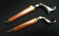 Antique knives with keris coin – Sumatra – Indonesia – early 20th century