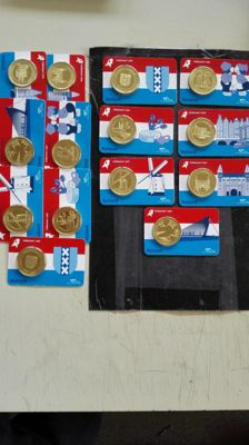 The Netherlands – Various medals 'Souvenir Coin Cards' (14 pieces)