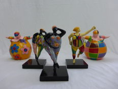 Dikke Dame Art - lot of five sculptures