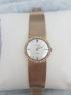 Lidher watch in 18 kt gold with diamonds, from the 1950s
