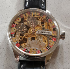 Longines – Mariage – men's wristwatch – skeletonized – model Glücksspiel (game of chance)