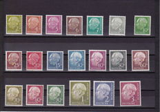 Federal Republic of Germany 1949/1954 – Selection of stamps incl. Heuss