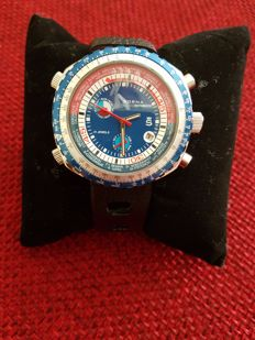 SORNA – 5 crowns with GMT CHRONO tachymetric scale – T21727-64(1) – Men's wristwatch – 1970-1979