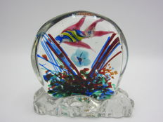 Murano - Small Aquarium with old label.