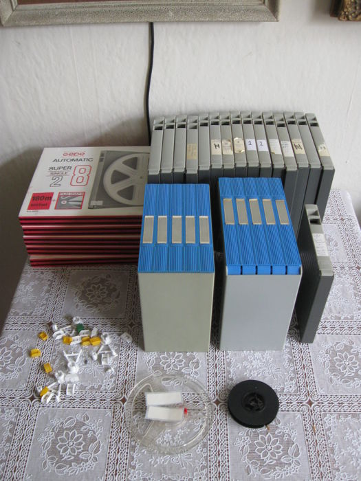 GEPE - 33 film reels in case and accessories