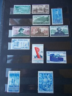 Republic of Italy, 1948-1952 Assortment of stamps