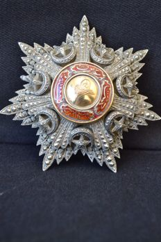 Antique Turkish Ottoman Order of the Mejedie 1852  Silver and Gold .