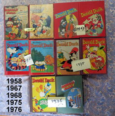 Donald Duck Weekblad - 10 private bindings - hc - 1st edition (1958/1976)