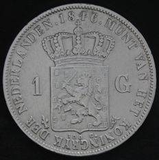The Netherlands – 1 guilder 1846  (Lily), Willem II – silver