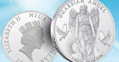 1 oz 999.9 silver coin from 2017, Guardian Angel $1 Niue