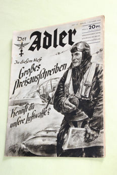 """Der Adler"", 20 different newspapers of the German air force from the 2. WW"