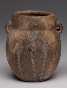 Pre-Columbian Chancay vase with opposing loop handles - Peru - 13 cm