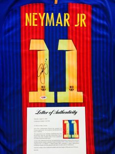 Neymar JR / FC Barcelona - Signed Home Jersey -  with Certificate of Authenticity PSA/DNA