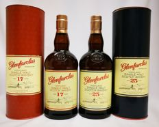 2 bottles - Glenfarclas 25 Year Old (70cl, 43%) & Glenfarclas 17 Year Old (70cl, 43%)