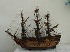 Model war frigate-hand made wood-ca 1950