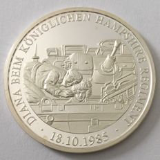 Germany – medal 2002 'Diana with the Royal Hampshire Regiment' – 20 g silver