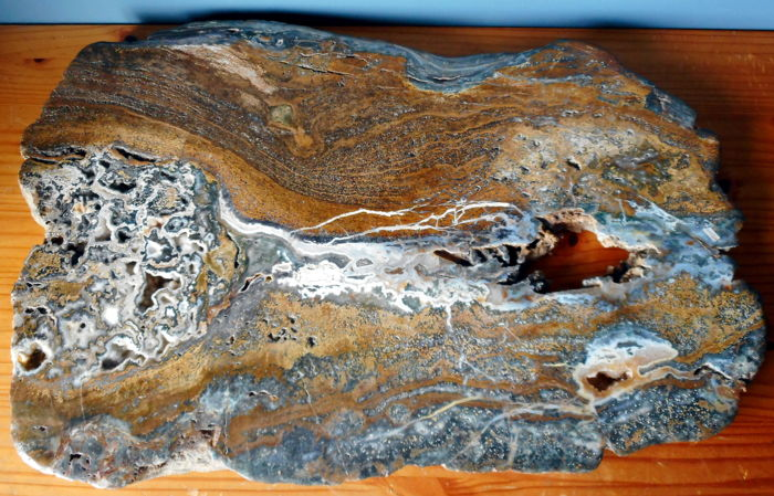 Large Ocean Jasper Table Top  - 800 x 510 x 40 mm - 47 kg
