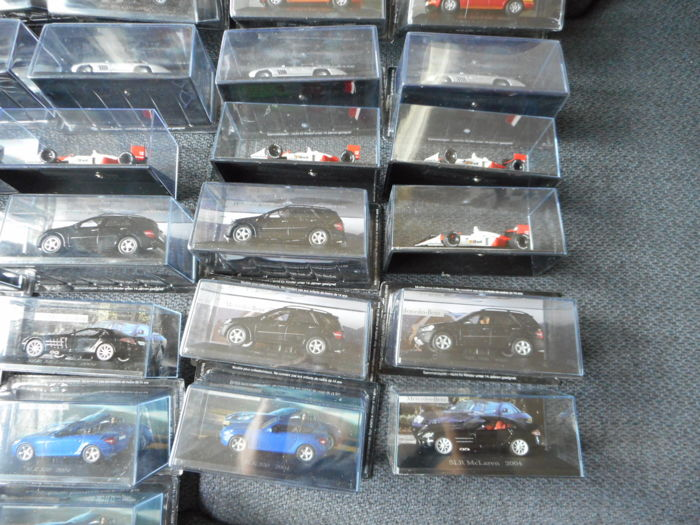 Ixo-De Agostini - Scale 1/43 - Lot with 38 Mercedes-Benz models: 9 x SLK, 6 x ML500, 2 x SLR, 2 x G4, 6 x McLaren, 4 x 300SL, 6 x ML270, 2 x CL & 1 x Simplex