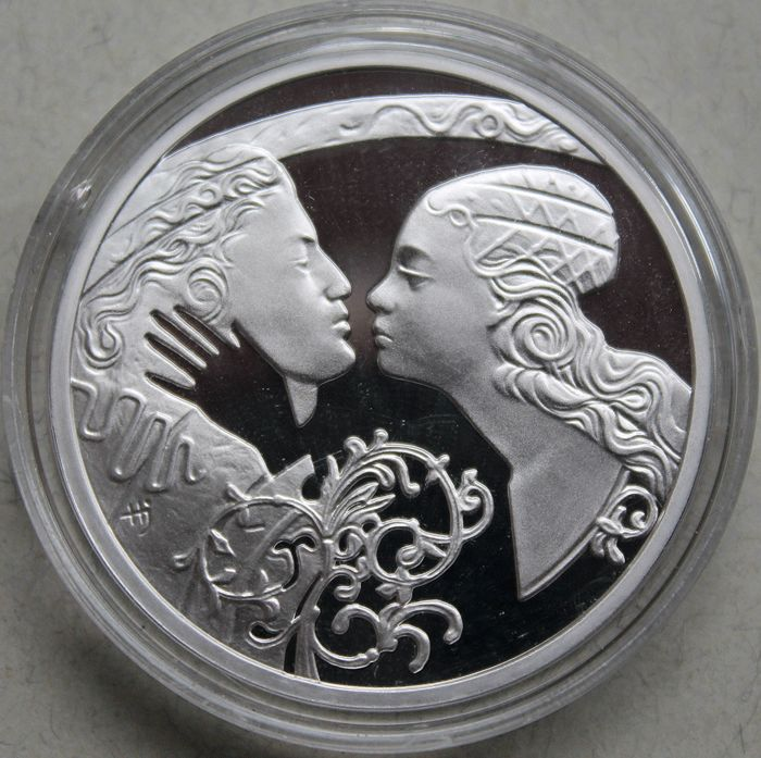 "Niue – 1 Dollar 2010 – ""Romeo and Juliet"" – silver"