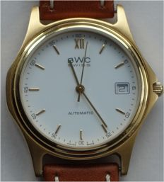 BWC automatic with date aperture, around 1985, like new, rare timepiece
