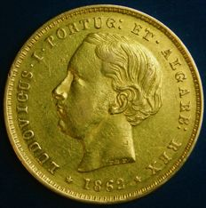 Portugal – 5.000 Reis in Gold – 1862 – D. Luís I – Lisbon – New