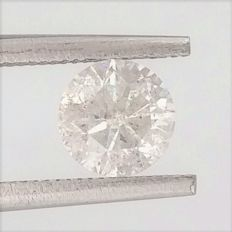 Round Brilliant Cut  - 1.02 carat  - F color  - SI3 clarity  - Natural Diamond  Comes With AIG Certificate + Laser Inscription On Girdle