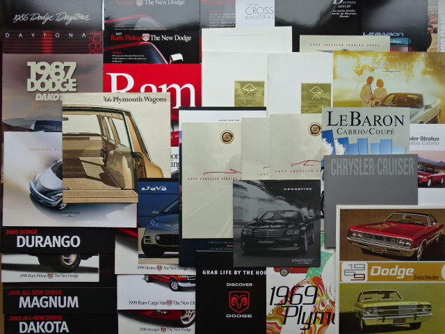 1966 - 2005 - CHRYSLER, DODGE & PLYMOUTH - mixed lot of 38 original sales brochures