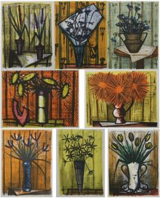 Bernard Buffet (1928-1999 - after) - Fleurs (10 artworks)