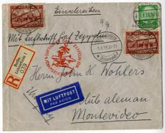 Small post Zeppelin post with rare postal items