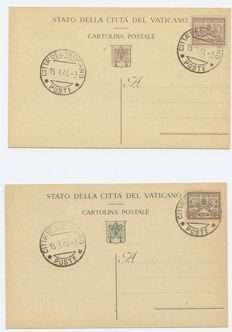 Vatican - Collection of circulated envelopes, with some cancellations from the RSI period and full sheets of stamps.